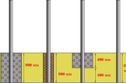 Варианты установки столбов для каркаса забора