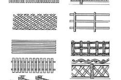 Виды деревянных оград для палисадников