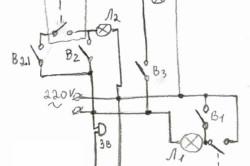 Пример электрической схемы на участке