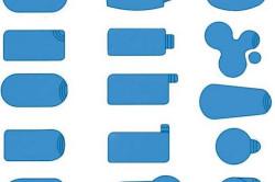 Различные формы бассейнов из полипропилена