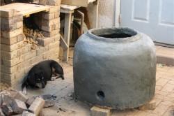 Печь для казана из глины