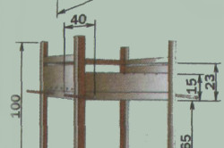 Схема размеров мангала