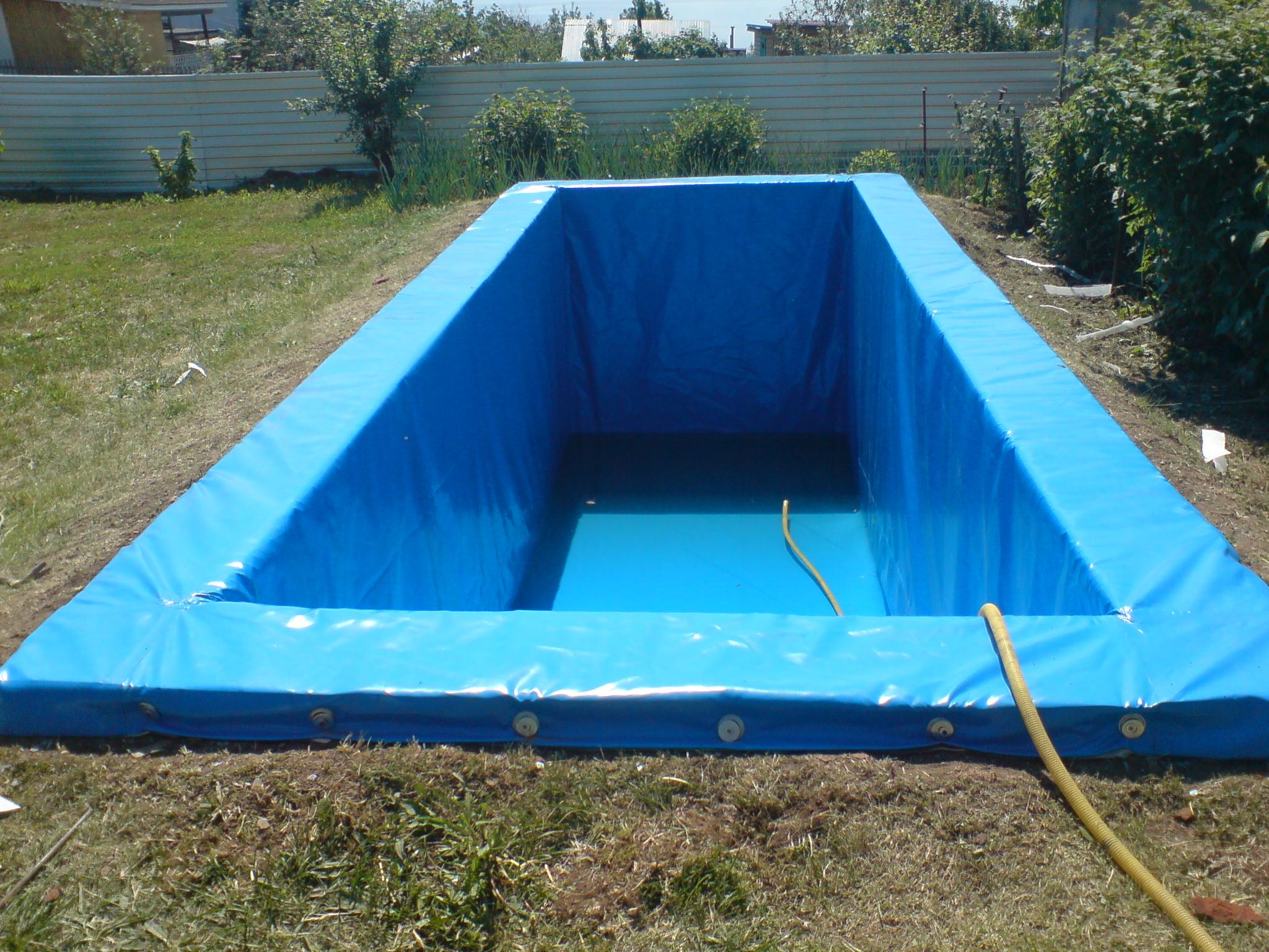 Как сделать бассейн своими руками из баннера