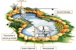 Схема установки оборудования для пруда