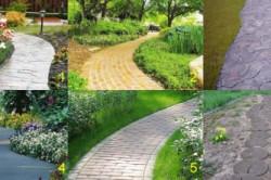 Виды садовых дорожек