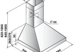 Схема зонта для мангала из металла