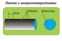 Схема оросительной ленты