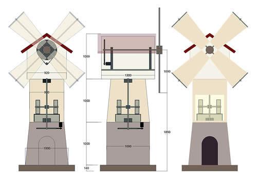 Как сделать декоративную мельницу своими руками чертежи