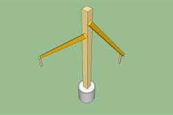 Выравнивание и фиксация стоек по вертикали