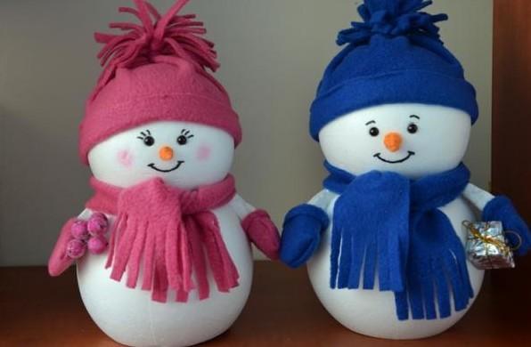 Снеговик своими руками пошаговое фото