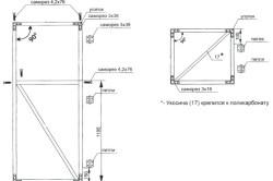 Схема сборки двери и форточки для теплицы из труб ПВХ