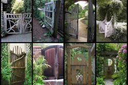Варианты оформления деревянных ворот