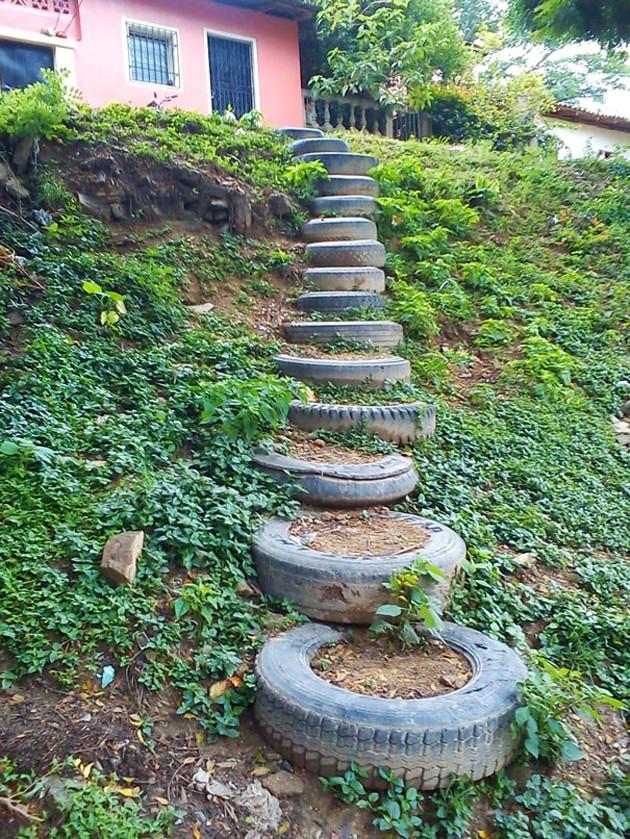 Садовая дорожка своими руками из покрышек фото 382